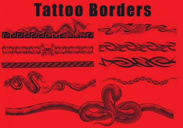 Dragon Tattoo Borders Brushes