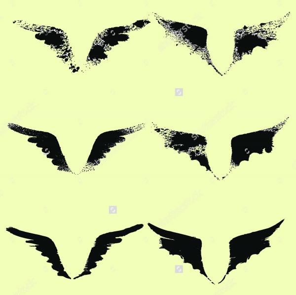 Dragon Wing Brushes Photoshop