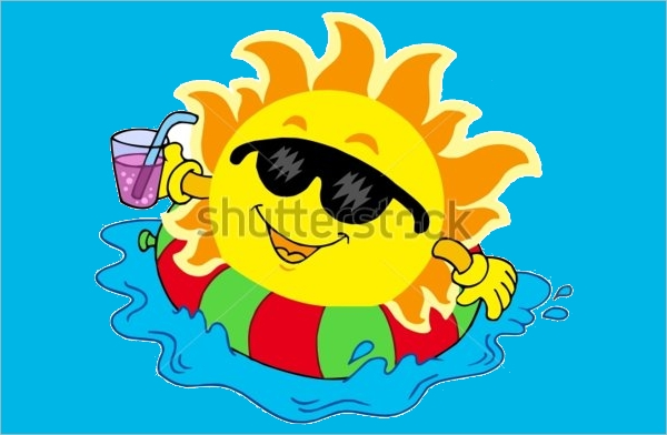 Drinking Water Sun Clipart