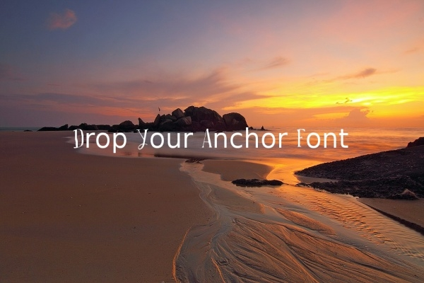 Drop Your Anchor Font