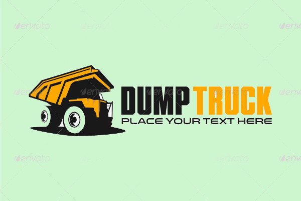 Dump Truck Outline Logo