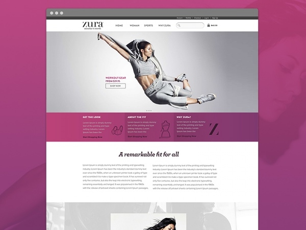 ecommerce website fitness banner