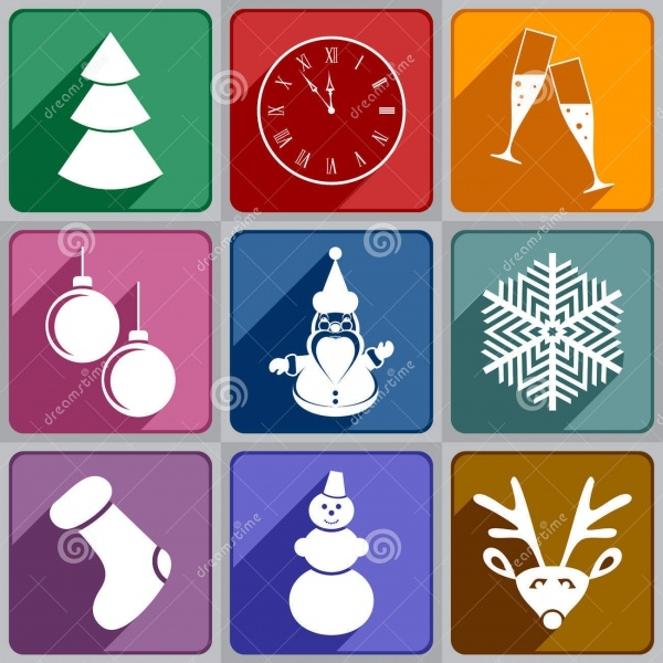 Editable New Year Icons
