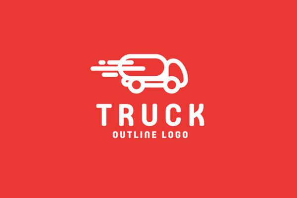 Editable Truck Logo Design