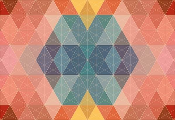 Eelgant Pastel Polygon Pattern