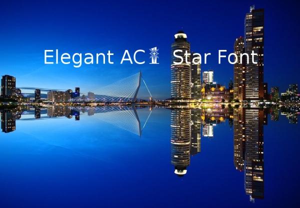 Elegant AC1 Star Font