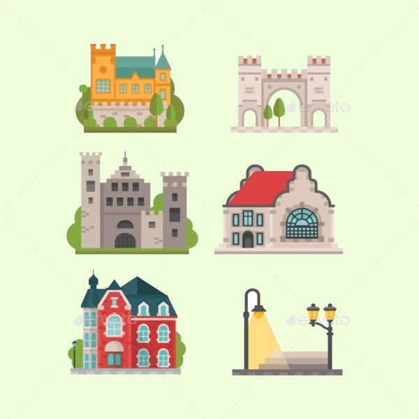 Elegant City Icons Set