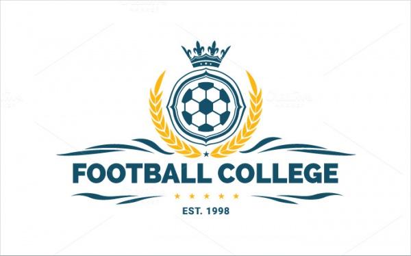 Elegant Football College Logo