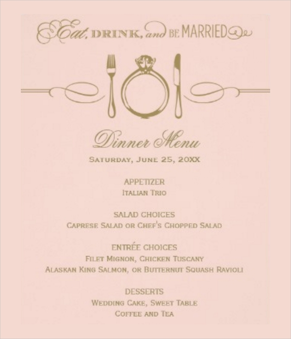 Elegant Menu Card Design