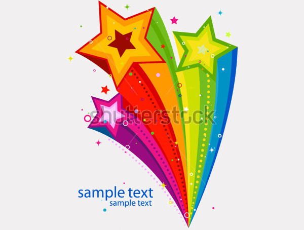 Elegant Rainbow Illustration Clipart