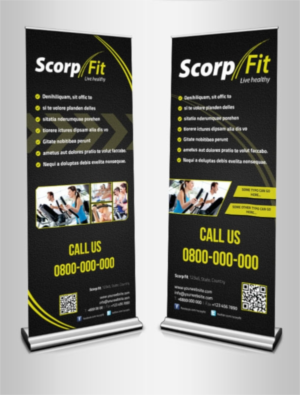 Elegant Scorpfit Roll up Banners