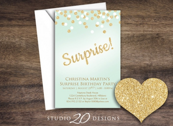 Elegant Surprise Invitation Card