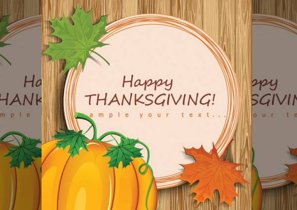 Elegant Thanksgiving Clipart Design