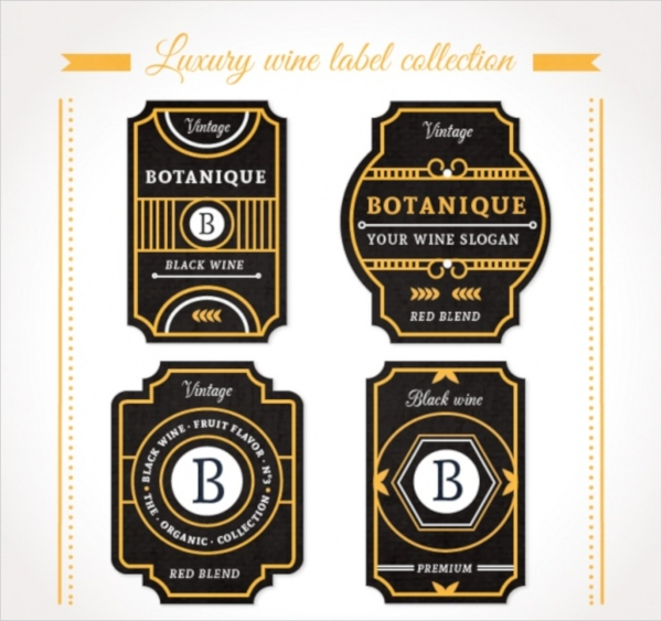 Elegant labels for bottles Collection