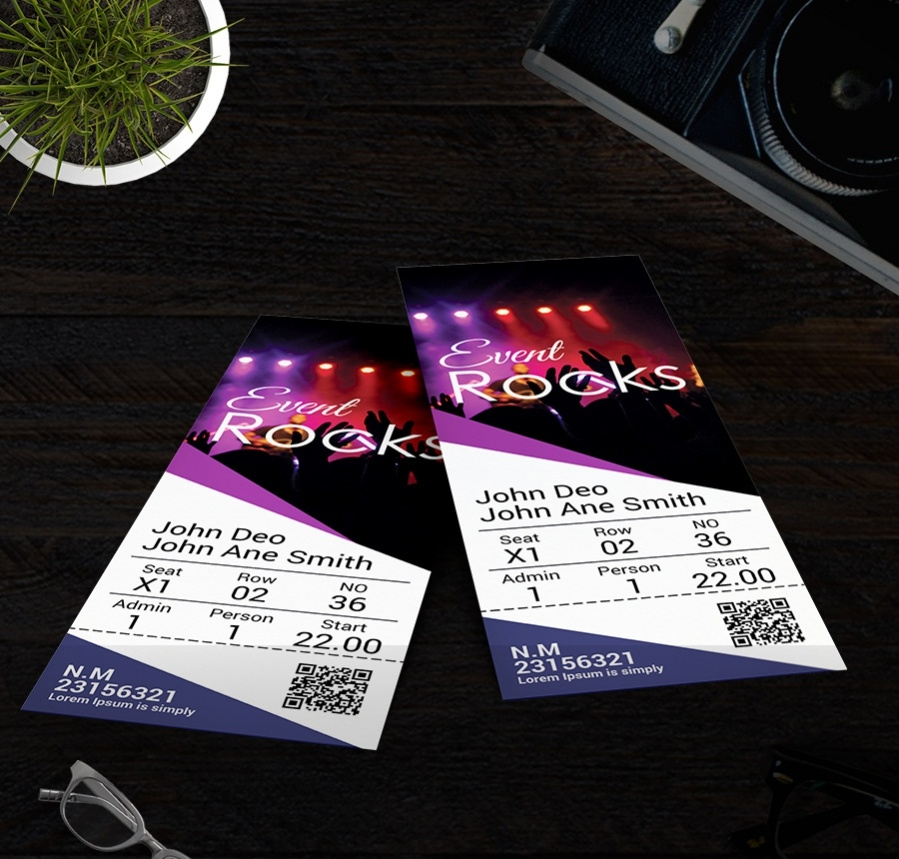 Event Rocks Party Ticket Template