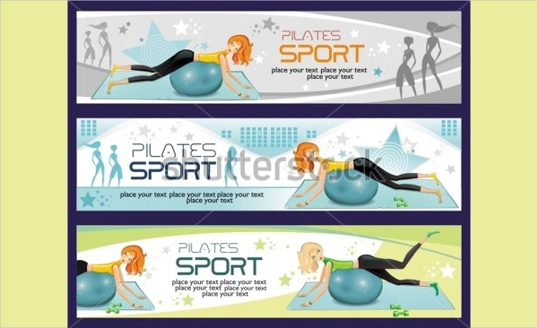 exercise fitness banner template