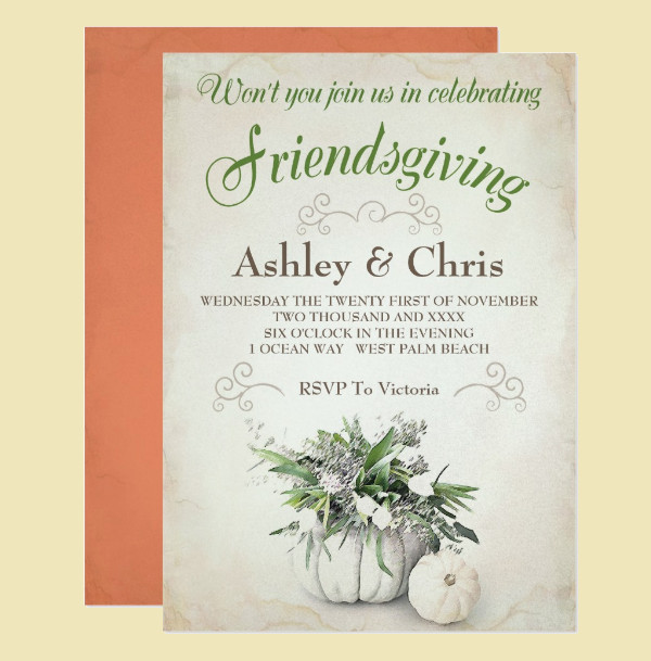 extraordinary friendsgiving invitation