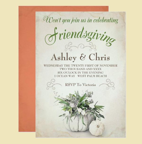 Extraordinary Friendsgiving Invitation