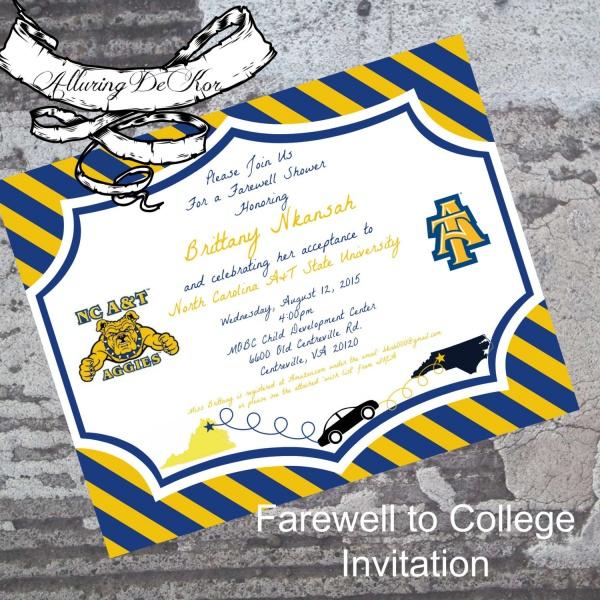 Farewell College Invitation
