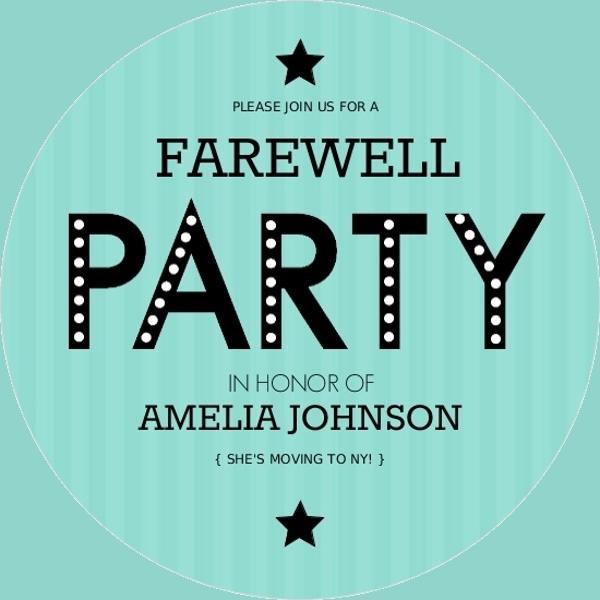 Farewell Invitation Card Design