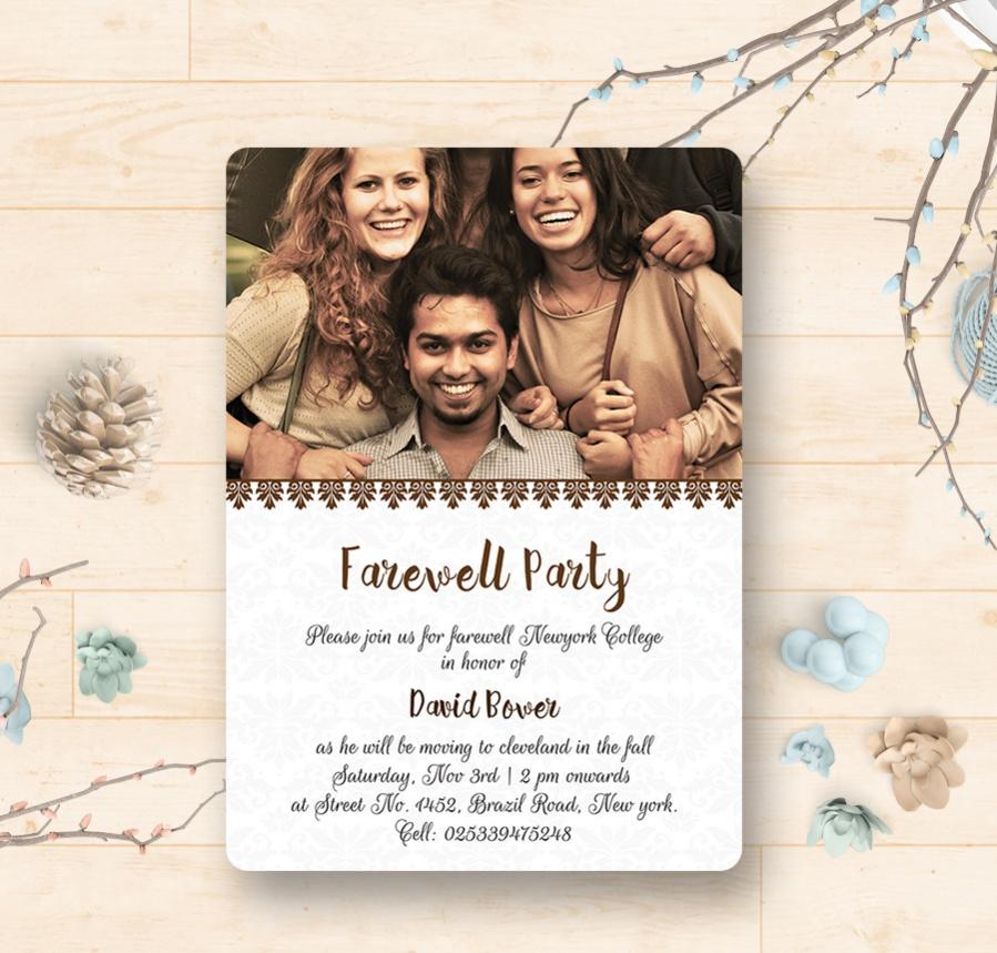 farewell invitation wording template