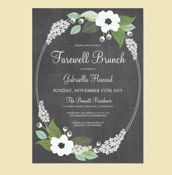 farewell potluck invitation template | just b.CAUSE