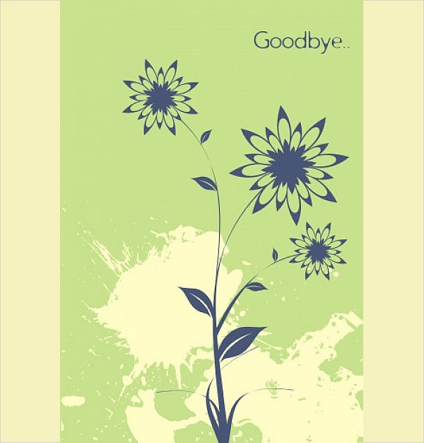 Farewell Thank You Card