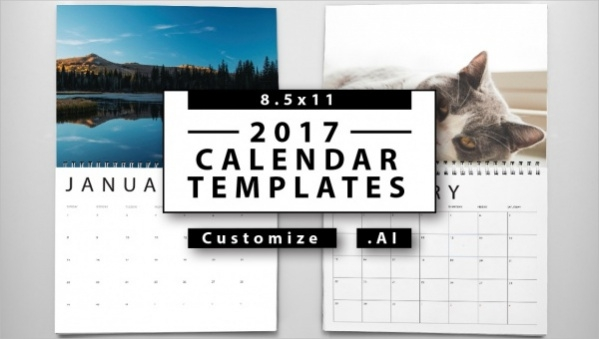 small yearly calendar