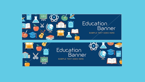 20 education banner designs psd vector eps ai illustrator