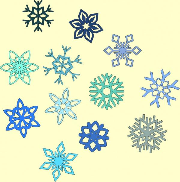 Festive Vector Snowflake Clipart