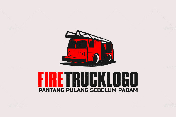 Fire Truck Logo Design