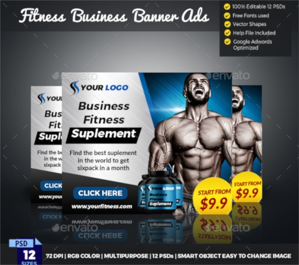 Fitness Center Banner Design