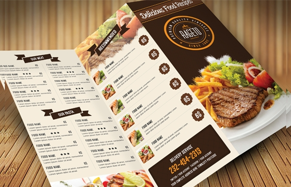 Food Menu Card Design