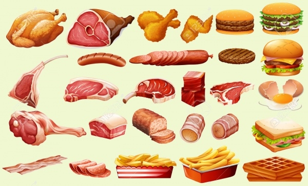 Food & meat Clipart Design