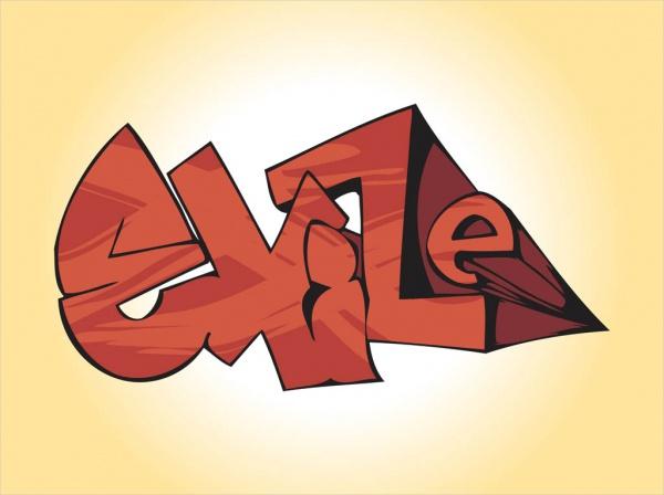 Free 3D Graffiti Vector Art