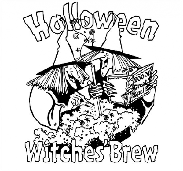 Free Adults Halloween Coloring Pages