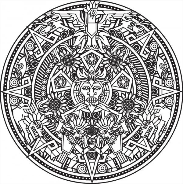 Free Adults Mandala Coloring Page