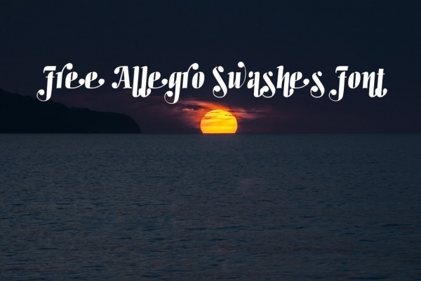 free allegro swashes font