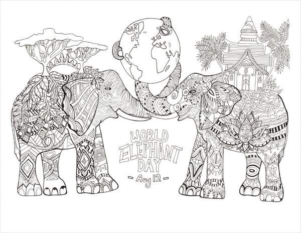 Free Animal Coloring Page for Adults