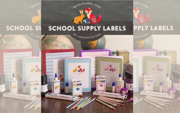 free back to school label