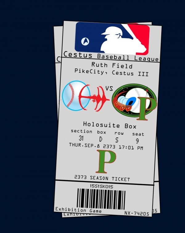 Free Baseball Ticket Design