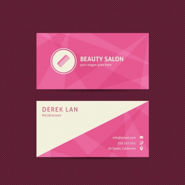 Free Beauty Salon ID Card Design