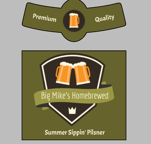 Free Beer Label Template