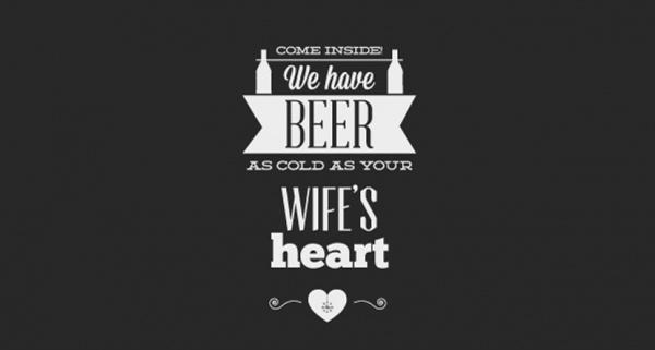Free Beer Typographic Vector