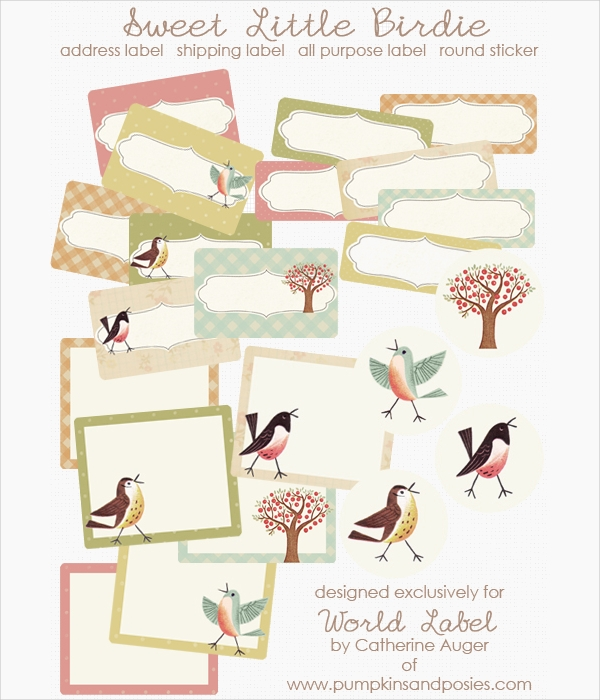 Free Birds Label Template