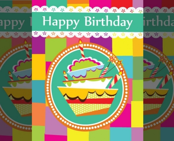 Free Birthday Cake Card Template