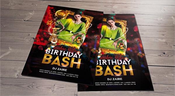 free birthday flyer design