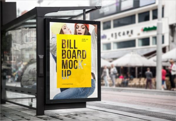 free-bus-stop-billboard-template