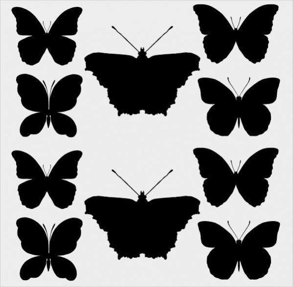 free-butterfly-silhouettes-design