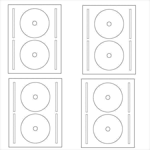 Free CD Label Template  Large Label Template